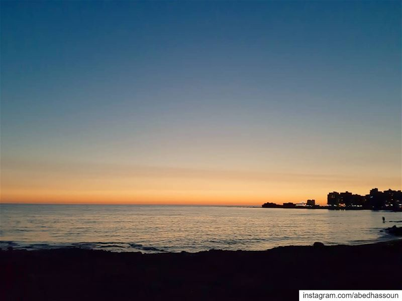 The after-sunset moment 🌅......................... (Tripoli, Lebanon)
