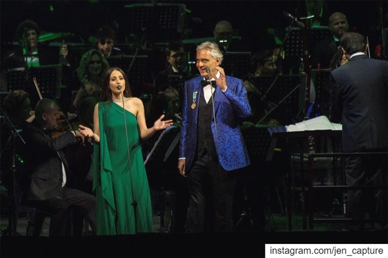 Even Bocelli, himself, enjoying Hiba's angelic n superb voice! 😍😍😍@hiba (Cedars Festival)