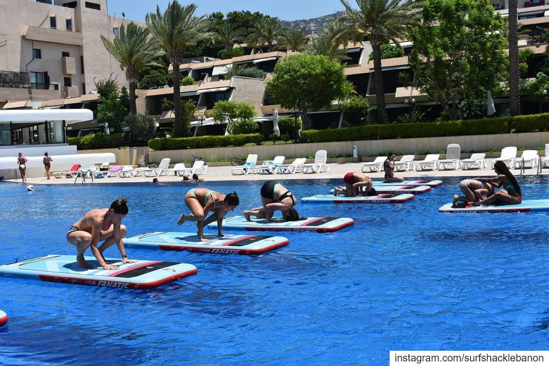 July 1st ☀ FITMAT YOGA 🧘♂️...... yoga yogalife yogalove summer... (Surf Shack Lebanon)