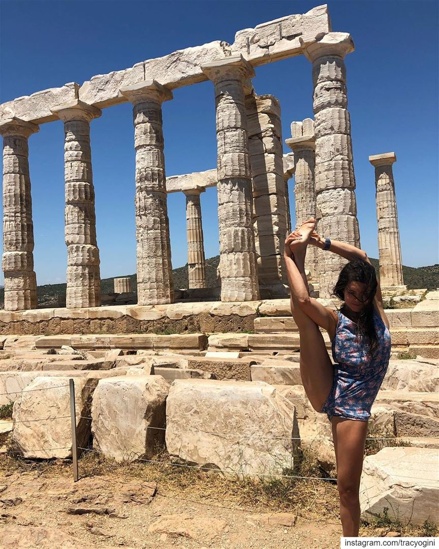 Friends and yogis, I am shifting my schedule around and canceling some... (Cape Sounion - Temple of Poseidon)