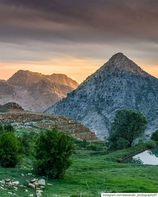 Mother nature's Pyramids 🏔🌄 - The Golden Hour after a stormy day at... (El Laklouk, Mont-Liban, Lebanon)