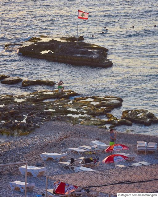 The end of a long summer day ⛱♥️________________________________________... (Batroun, Lebanon)