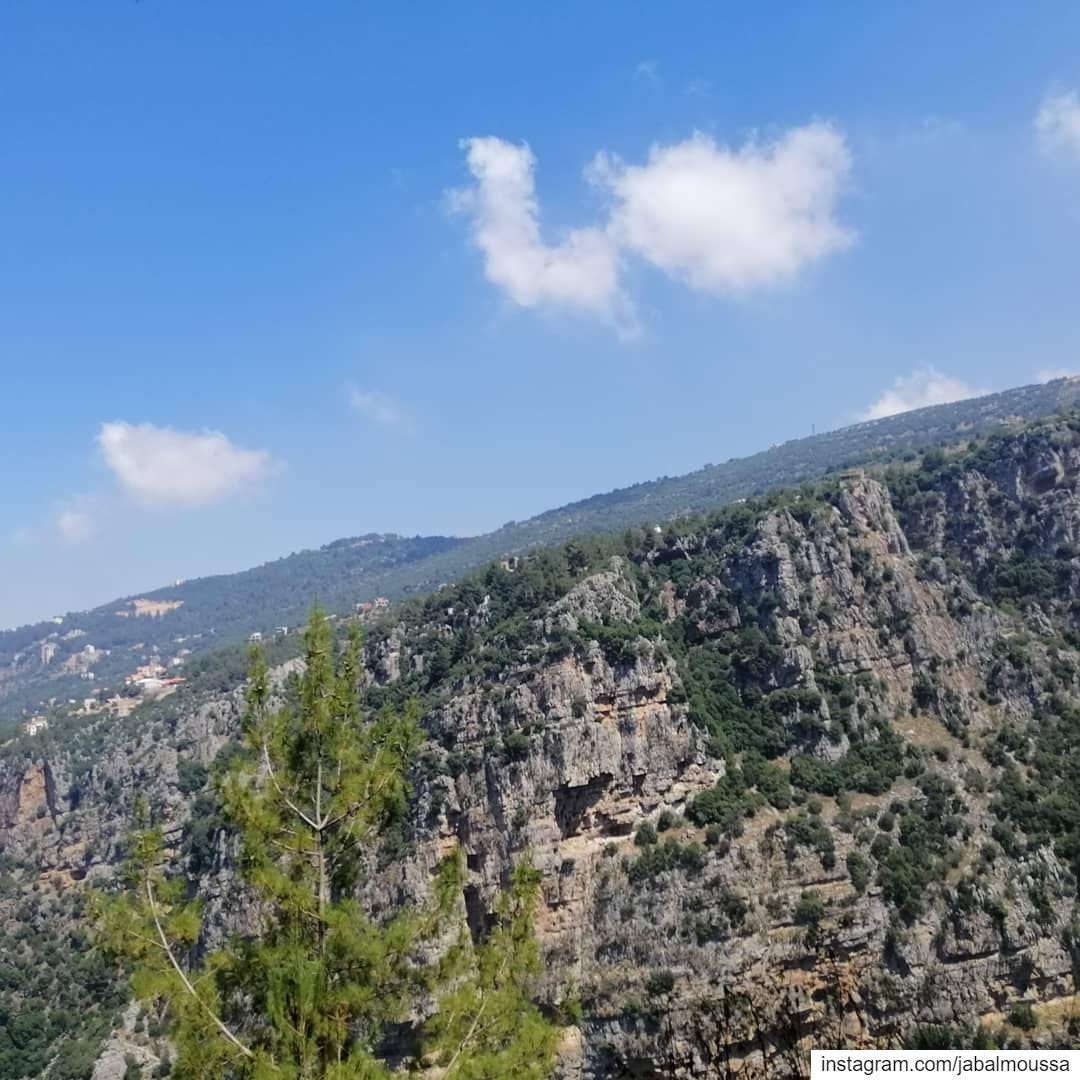 Breathtaking scenery on your way to Chouwan. JabalMoussa unesco ... (Jabal Moussa Biosphere Reserve)