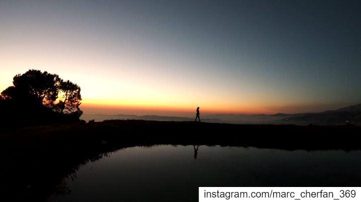 THE SUNSET WALK 🔥 SoundOfNature 🐸 AboveClouds ☁️ NatureWalk ... (Falougha, Mont-Liban, Lebanon)
