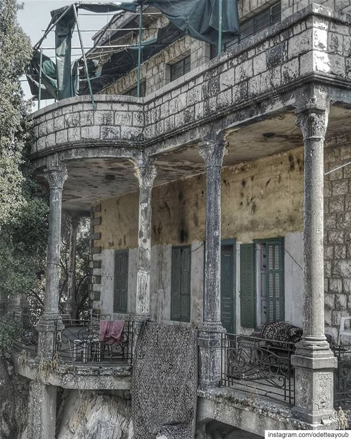 Old houses are full with memories and that's why they resist to collapse...