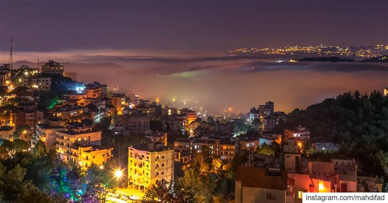 Kayfun Beirut City lights longexposure night photography landscape nature... (Kayfun, Mont-Liban, Lebanon)