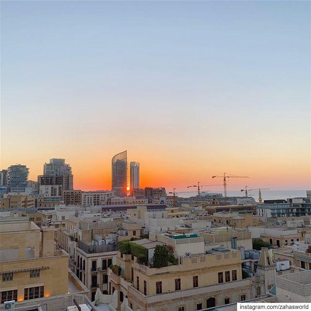 beirut sunset rooftop view livelovebeirut beirutcity lebanon... (Clap Beirut)