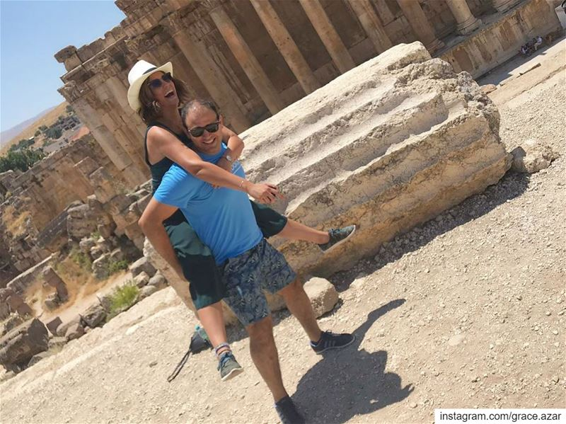 We were both Happy in Baalbek.Amorino definitely less than me.... (Baalbek, Lebanon)