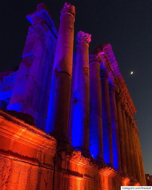 Baalbeck in colors @melodygardotofficial concert @baalbeckfestival ... .... (Baalbek , Roman Temple , Lebanon)