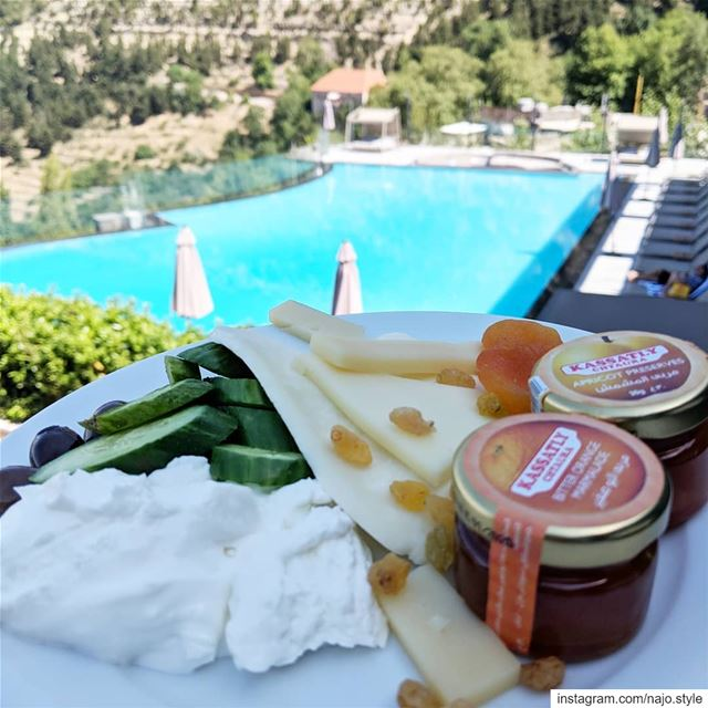goodmorning ehden lebanon breakfast cheese labneh jam butter ...
