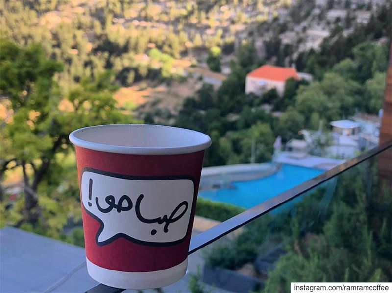 وعلى صباح حبك انا اصبحت صباحو... ramramcoffee turkishcoffee ... (MIST Hotel & Spa)
