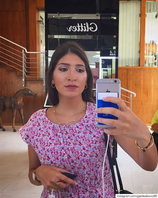 Gaelle with makeup 🤓 and nail polish 🤪 and without livelovebeirut...