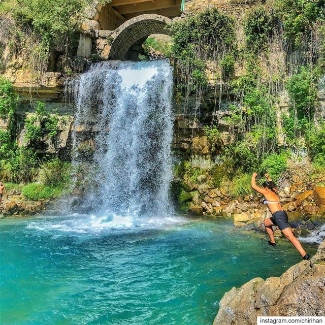 Lebanon you are beautiful afqa lebanon waterfall waterfalling travel... (Afqa)