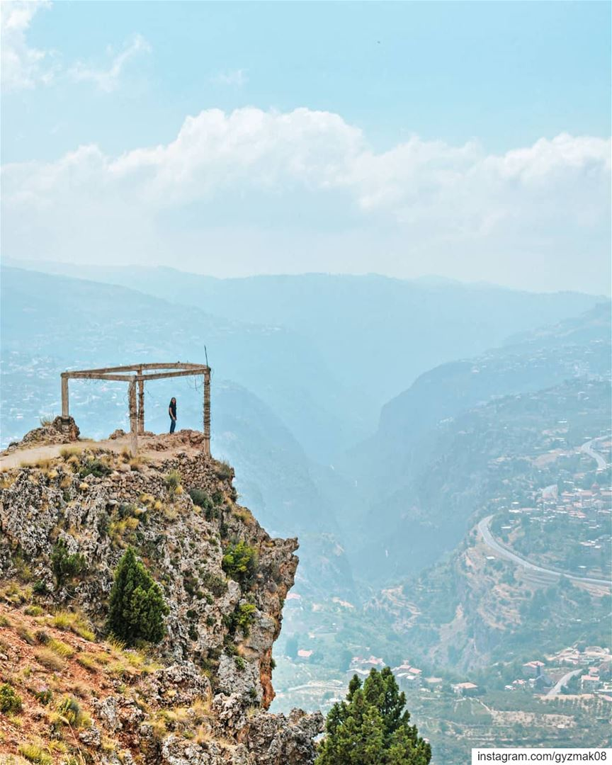 And the moutains collided with the sky....... exploringtheglobe ... (The Cedars of Lebanon)