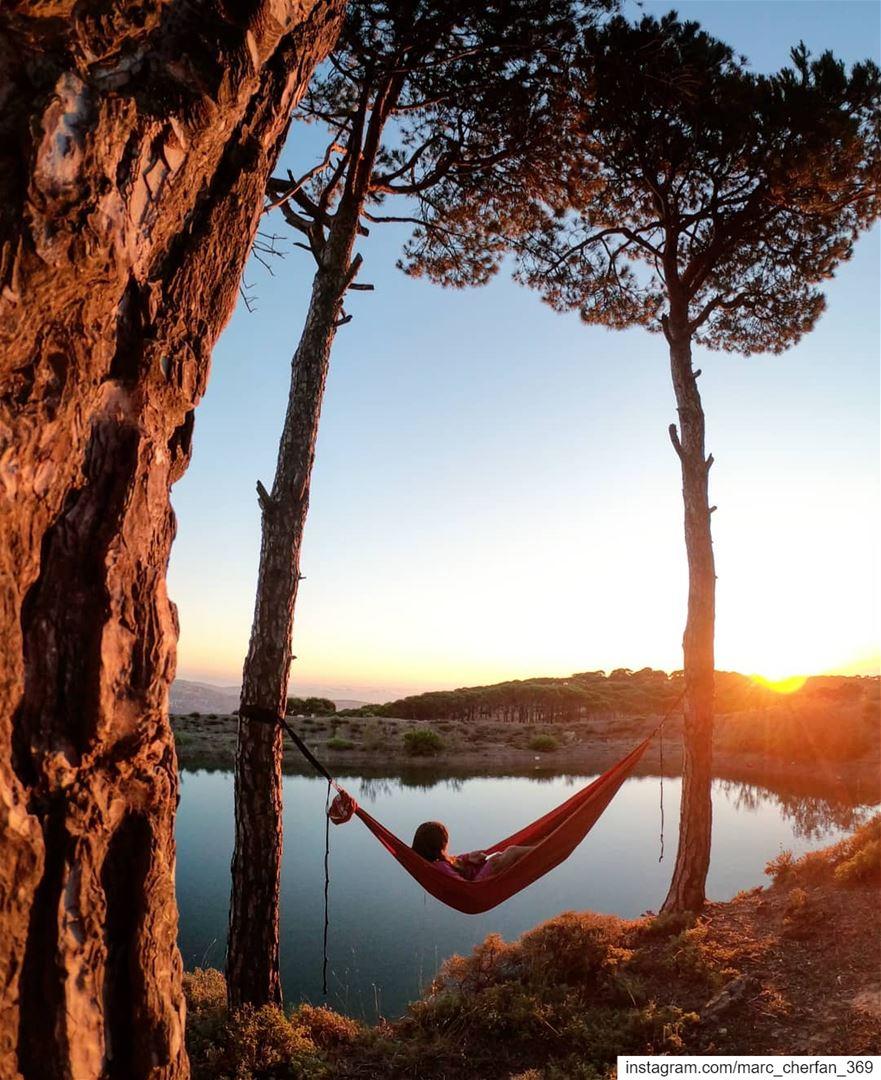 Chilling Sunset Lake Falougha Lebanon 🇱🇧 BeautyInSimplicity Relax... (Falougha, Mont-Liban, Lebanon)