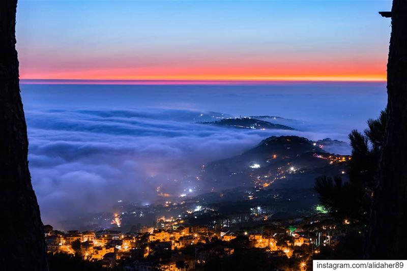 Magical sunset......... landscapephotography naturephotography... (Mount Lebanon Governorate)
