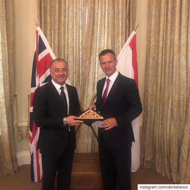 Minister of Defence Elias Bou Saab ended a two-day visit to the UK and met...