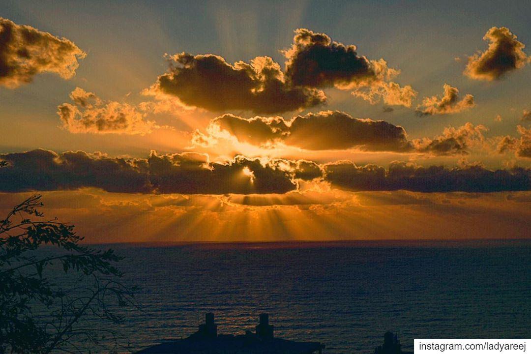 Watch more sunsets than Netflix! orange sunsetlovers livelovebeirut ...