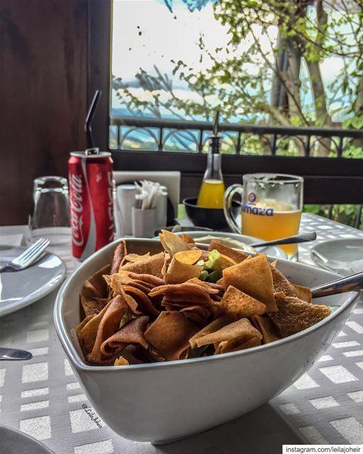 Sunday 🌞 livelovefood fatouch livelovejezzine motherearth myescape ... (Jezzîne, Al Janub, Lebanon)