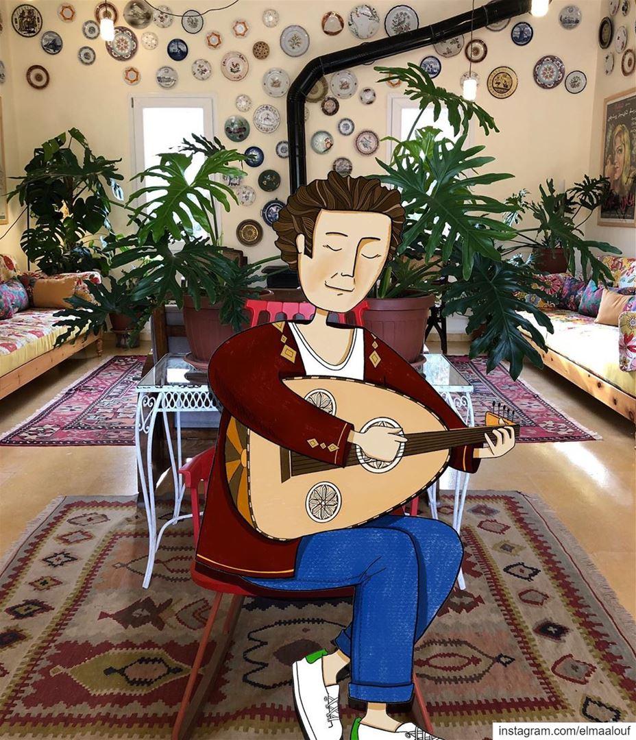 - عودك رنّان -..... livelovedeirelkamar art_help music ... (Beit El qamar)