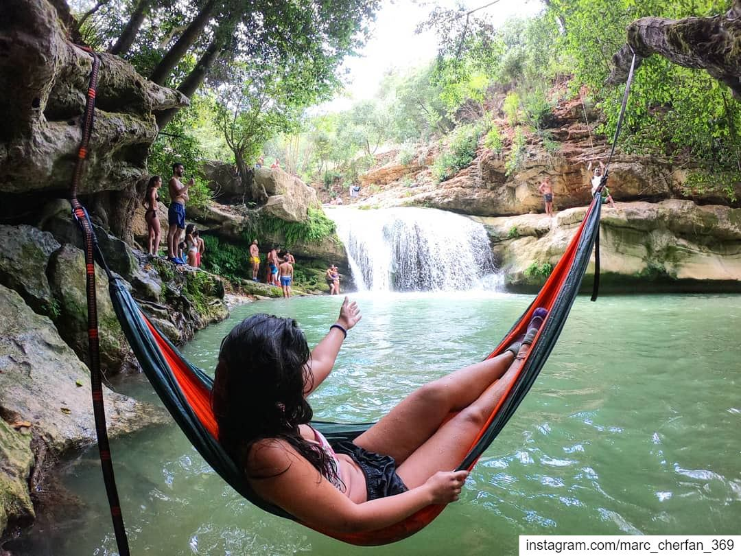 Chilling By The NaturalPool 😎 Waterfall ColdWater Fresh Swim Relax... (Al Jahiliyah, Mont-Liban, Lebanon)