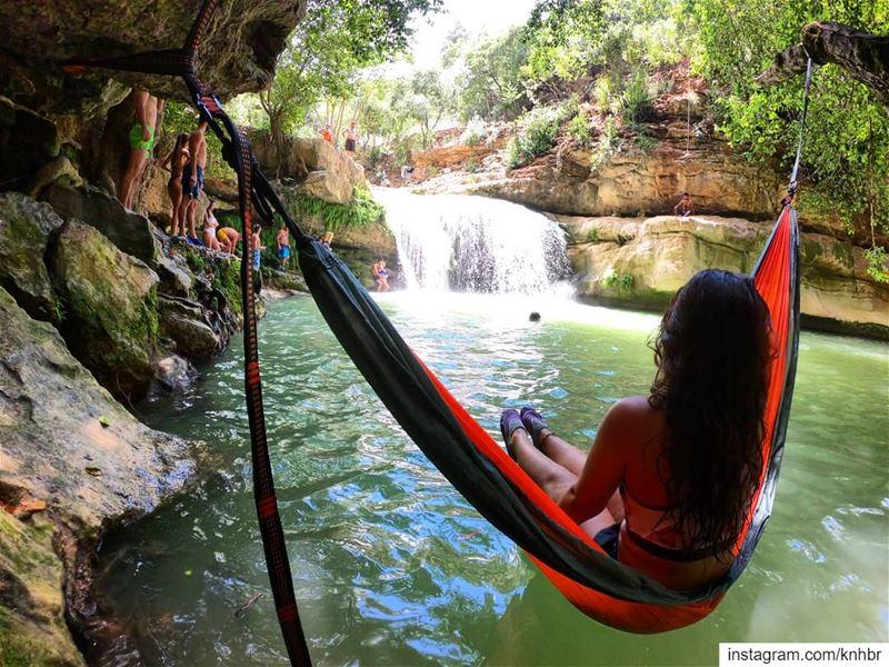 hammocking visitlebanon lebanonspotlights insta_lebanon ... (Jehliyeh River)