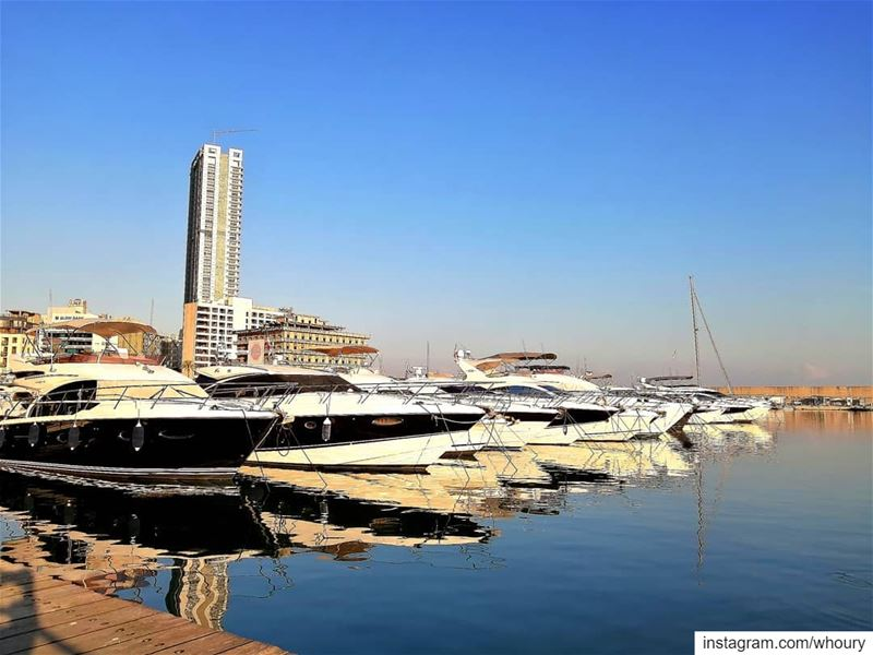 goodmorning good morning yacht marina beirut... (Zaitunay Bay)