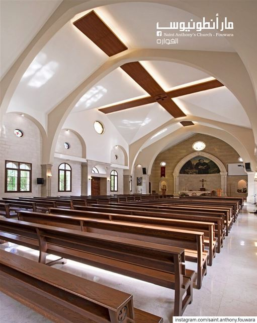 Good morning with this amazing inside view of @saint.anthony.fouwara by: @w