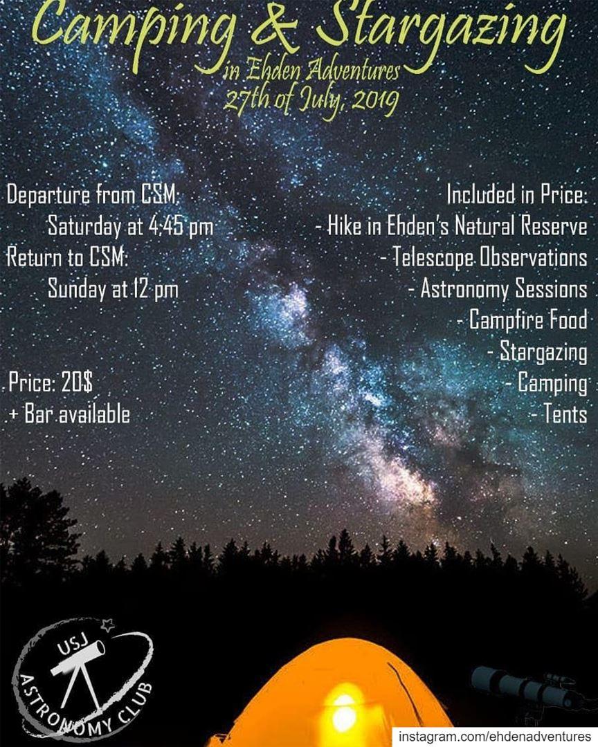 hiking caping stargazing telescope campfire ehdennaturereserve usj ... (Ehden Adventures)