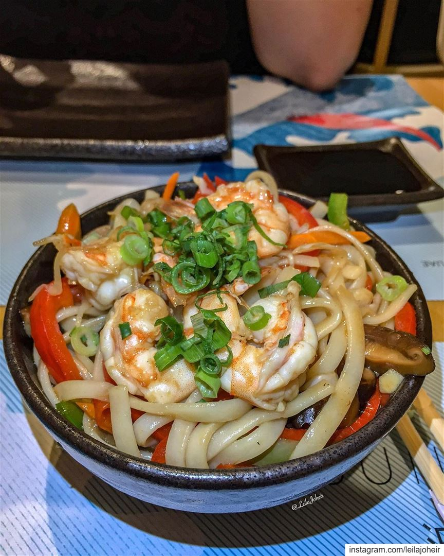 shrimp noodles foodie chinesefood wok thewok liveloveeat ... (Achrafieh, Lebanon)