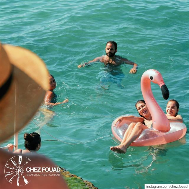 Dip in our Tahet El Rih clear blue water @chez.fouad 🌊☀️ For reservations... (Tahet el-rih تحت الرّيح)