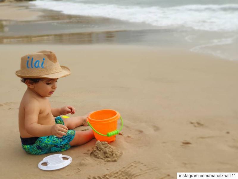Sun 🌞 Sand ⏳ Sea 🏖 fun playing beach babyilai love sun heat ...
