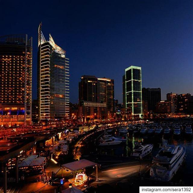 Late night ...Blurry lights...Deep mind ... ✨ zaytounabay downtown... (Beirut, Lebanon)