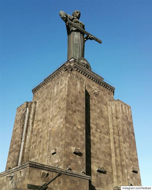 The Mother Armenia statue symbolizes peace through strength. It can remind... (Yerevan, Armenia)