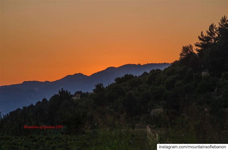 Post sunset lights before night falls....... roadtrip explore ... (Afka, Mont-Liban, Lebanon)