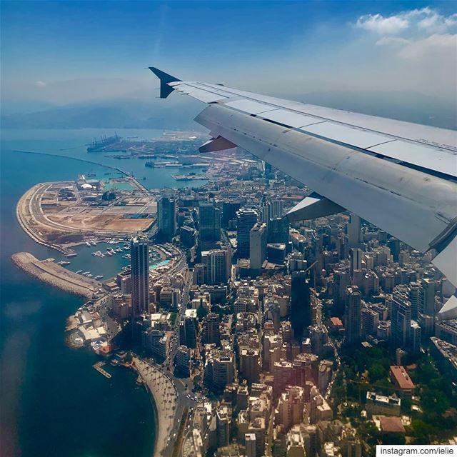 Beirut bound. 🛬🇱🇧 Lebanon Beirut city Zaitounabay Clemenceau ... (Beirut Lebanon - لبنان.بيروت)