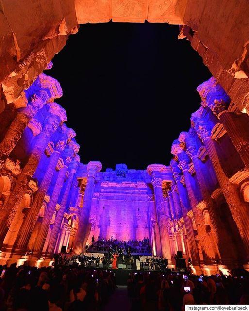 Magical night in Bacchus templeBy Wael Hamzeh Baalbeck IloveBaalbeck ... (Baalbek , Roman Temple , Lebanon)