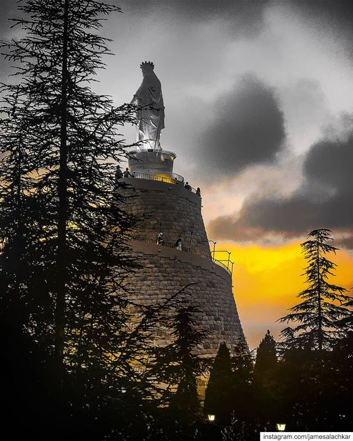 Mother of Mercy... Pray for us livelovebeirut lebanon lebanontimes ... (Our Lady of Lebanon)