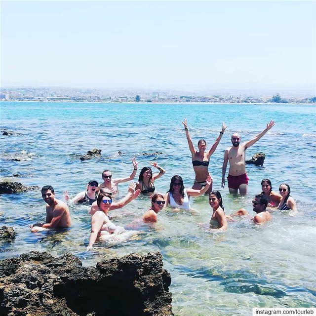 Right in the middle of the sea! tourleb tourlebanon tourismlb tourism... (Tyre, Lebanon)