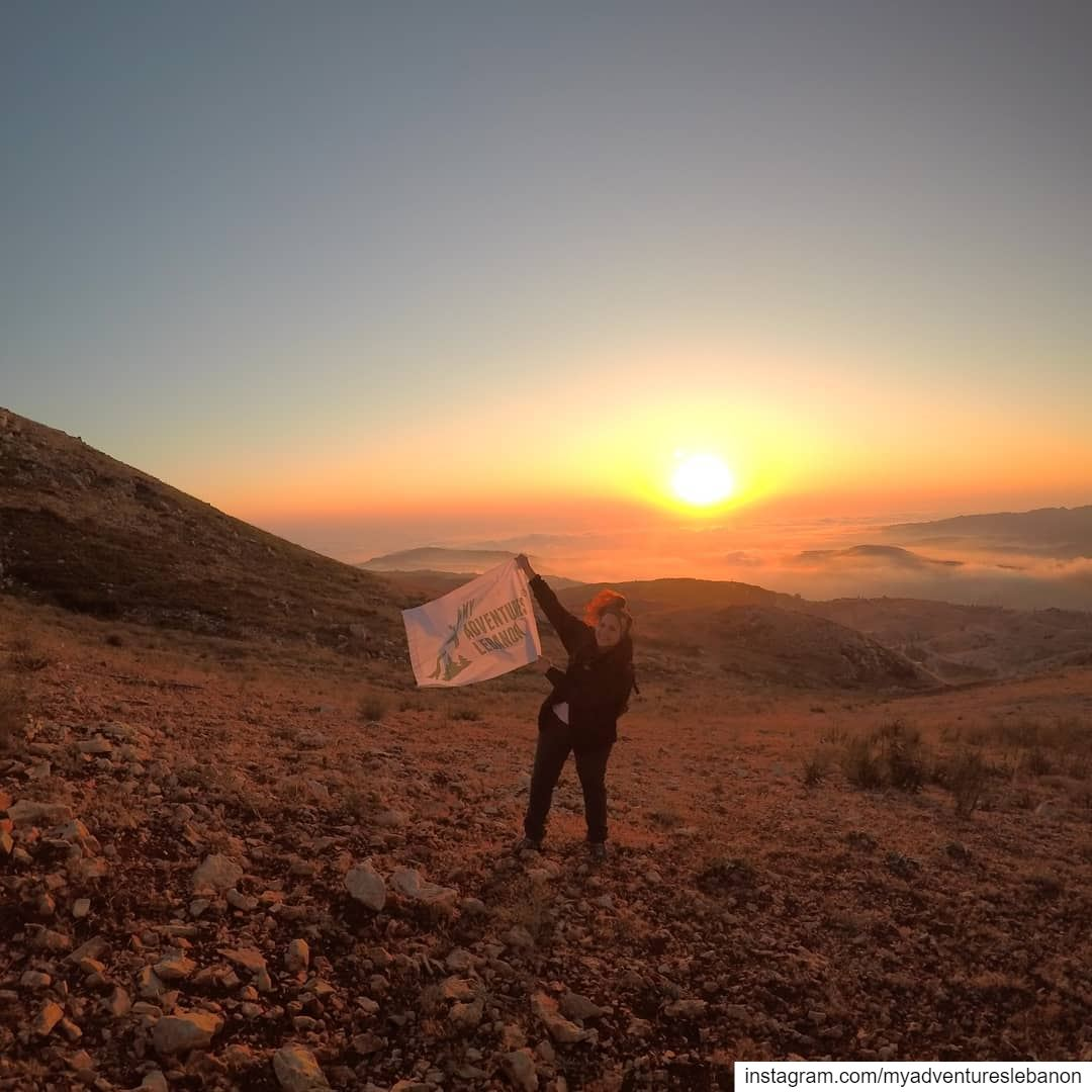 Lebanese sunset 🌅 myadventureslebanon mountaineering choosemountains ... (Lebanon)