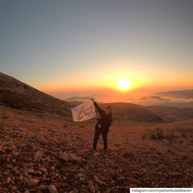 Lebanese sunset 🌅 myadventureslebanon mountaineering choosemountains ... (Lebanon)