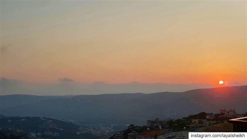 homeview sunsets sunsetlover sunset_pics hasbayapictures ... (Hasbayya, Al Janub, Lebanon)