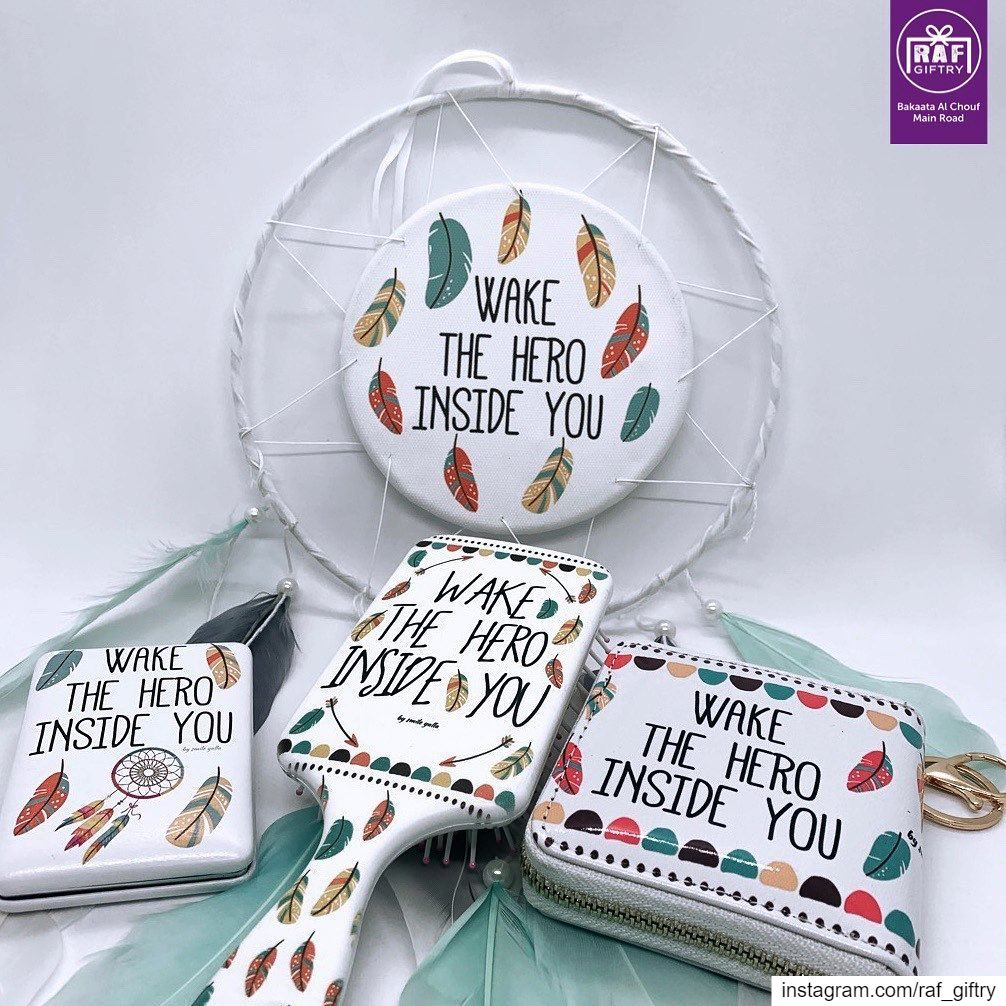 """""""WAKE THE HERO INSIDE YOU"""" dreamcatcher wallet mirror hairbrush ... (Raf Giftry)"""