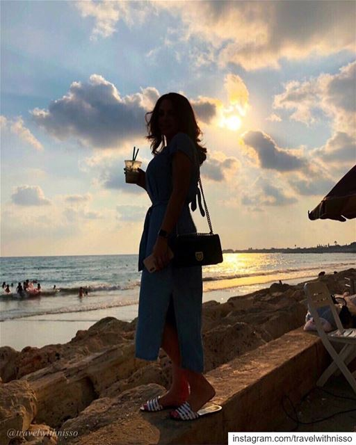Seaside 🌊 Sunshine ☀️ and Starbucks🥤in S O U R a.k.a T Y R E 🌅 beirut ... (Sour Tyre Lebanon.)