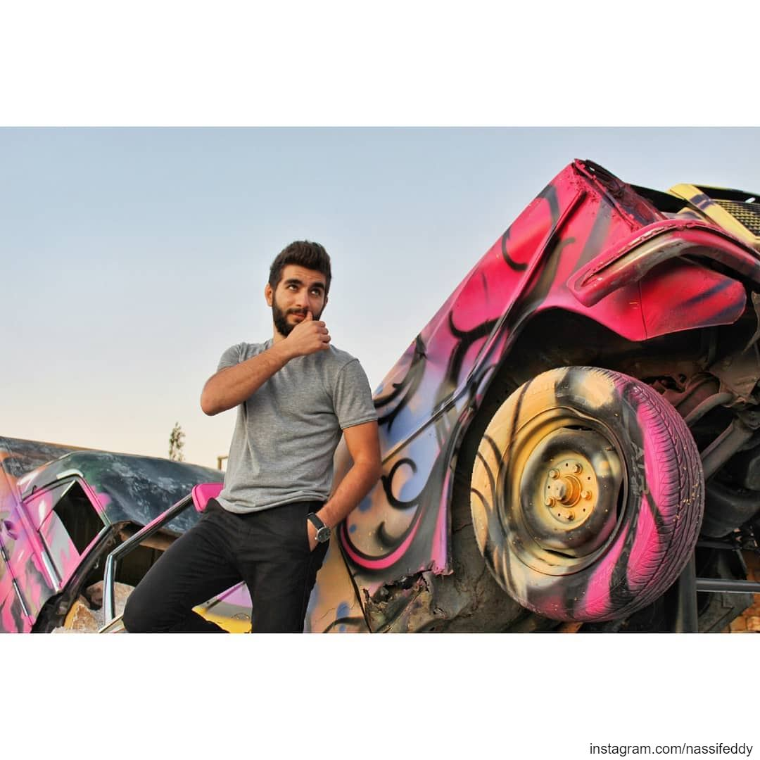 Smash those old cars they said, it will be fun they said! livelovelebanon... (Jouroudi Zaarour)