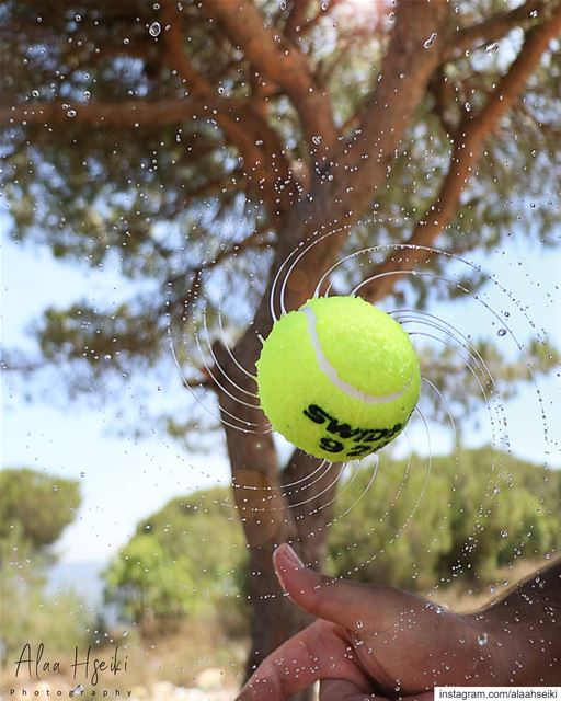 Stuck in Motion 🎾... Hseiki Lebanon beirut slomo slowmotion ...