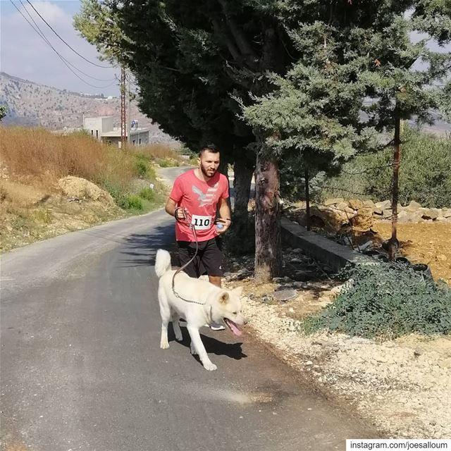 Jnoub Lebanon morning run sam 🐕🏃♂️ (El Qlaïaâ, Al Janub, Lebanon)