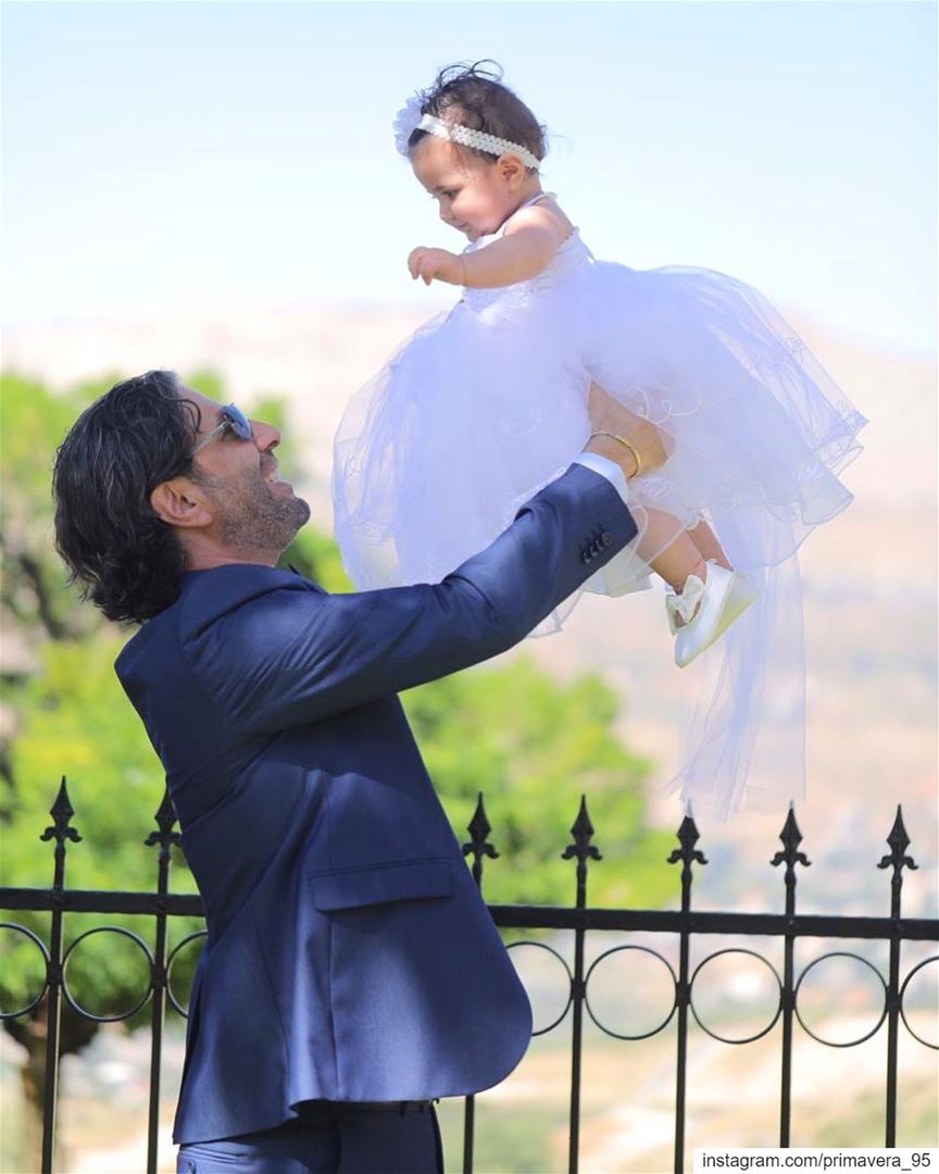 father daughter sienna baptism capture instapic instalike cute ... (Faqra Kfardebian Lebanon)