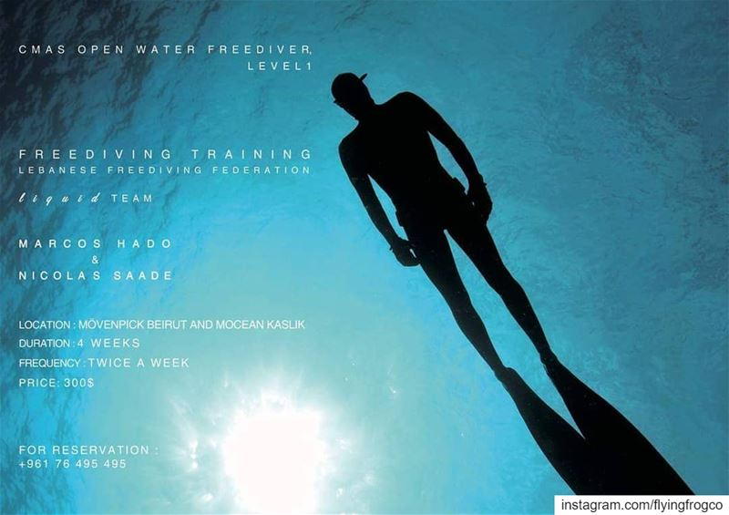 Beirut & KaslikFreediving courses starting in daysBook your spot now... (Mövenpick Hotel & Resort Beirut)