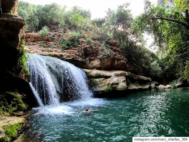 In The Hands Of  MotherNature 💚 NaturalPool  Waterfall  Swim  ColdWater ... (Serjbel)
